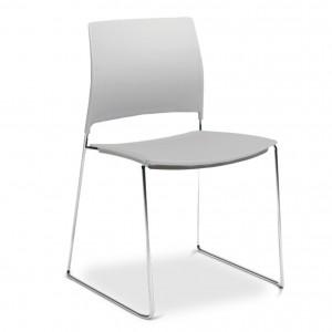 Ref. 34.002 – Cadeira Polipropileno Fixa base cromada
